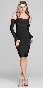 Marciano bandage dress detachable sleeves